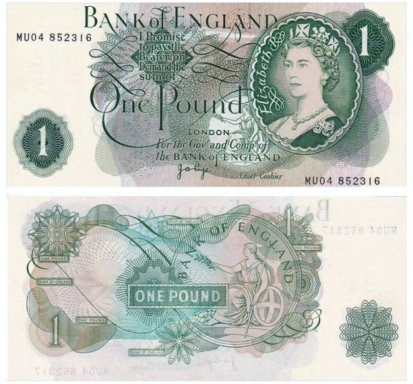 Anh - England 1 pounds 1970 - 1977 UNC