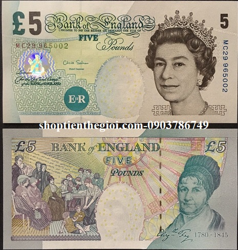 Anh 5 pounds 2004 UNC