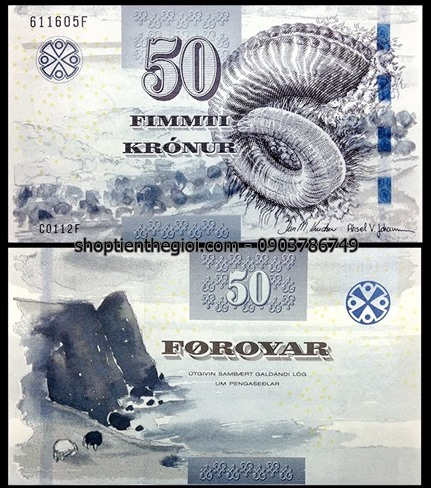 Faeroe Islands 50 kronur 2012 UNC