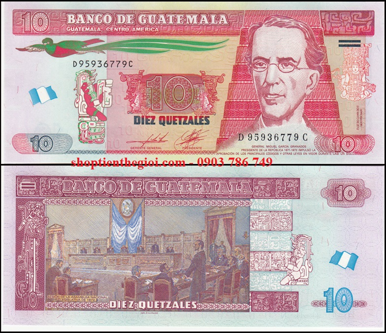 Guatemala 10 Quetzales 2008 UNC Polymer