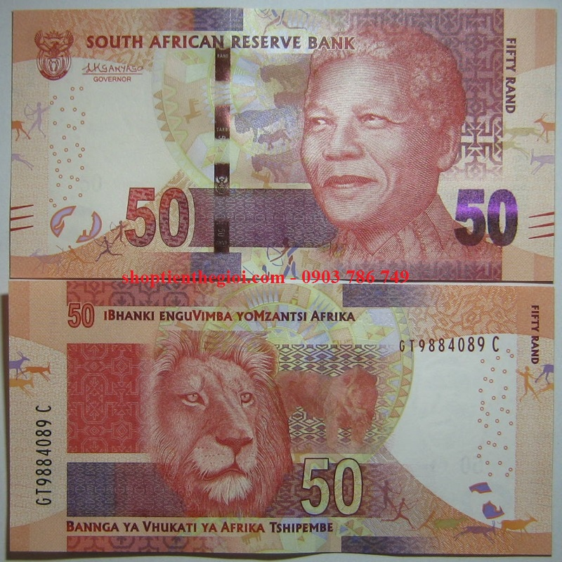 Nam Phi - South Africa 50 Rand 2015 UNC