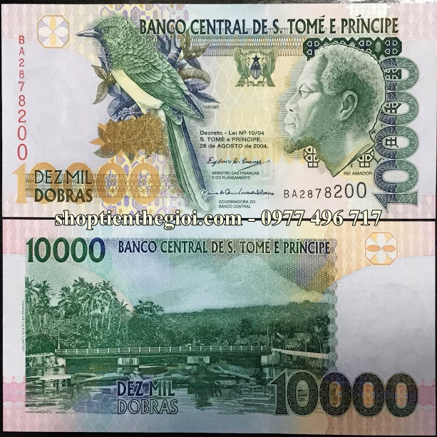 Saint Thomas And Prince 10.000 Dobras 2004 UNC