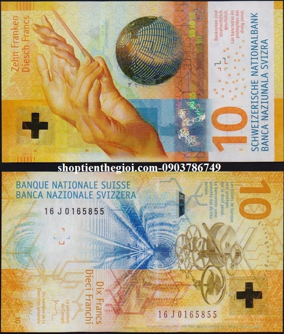 Switzerland - Thụy Sĩ 10 Francs 2017 UNC