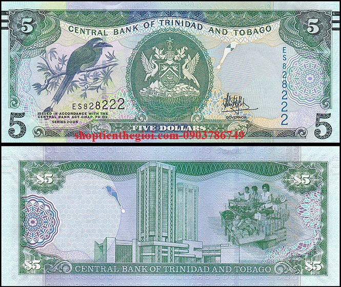Trinidad and Tobago 5 Dollars 2006 UNC