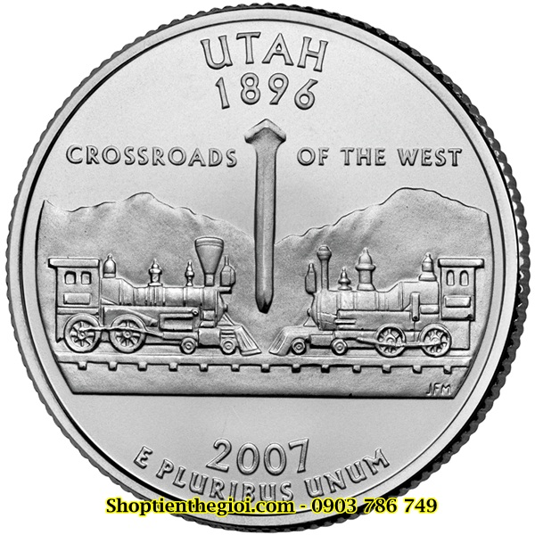 Xu USA - Mỹ bang Utah 1/4 Dollar 2007  -  SP002269